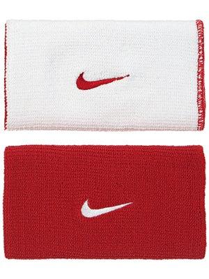 Nike Dri-Fit Home & Away Doublewide Wristband Red/White