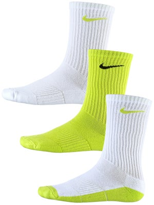 Nike Junior Crew Socks 3-Pack Cyber/White