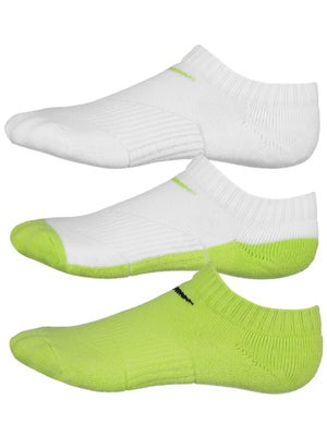 Nike Junior No Show Socks 3-Pack Cyber/White