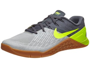 Nike Metcon 3 Wolf Dark Grey/Volt/Bone Mens Shoes