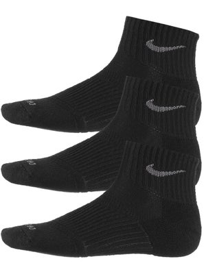 Nike Junior Quarter 3-Pack Socks Black