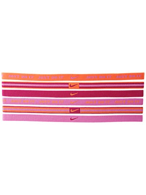 Nike Sport Hairbands 6-Pack Orange/Magenta/Pink