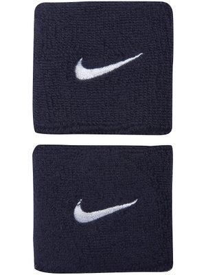 Nike Swoosh Singlewide Wristband Navy/White