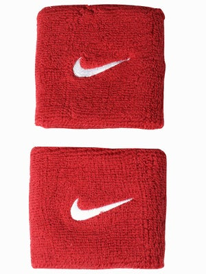 Nike Swoosh Singlewide Wristband Red/White