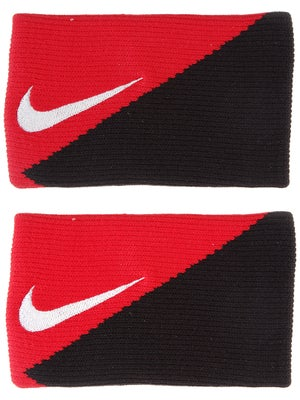 Nike Tennis Diagonal Doublewide Wristbands Red/Black