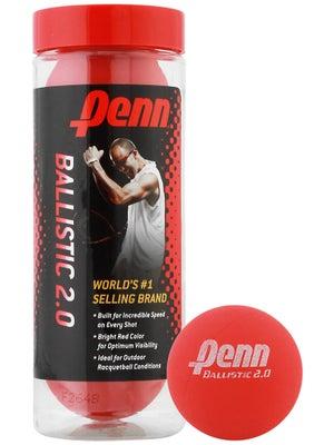 Penn Ballistic 2.0 Racquetballs 3 Ball Can