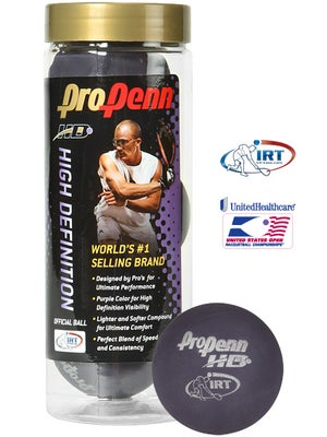 Pro Penn HD Purple Racquetballs 3 Ball Can