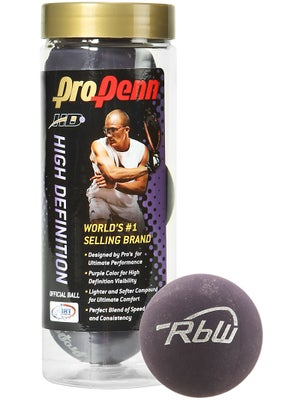 Pro Penn HD RbW Racquetballs 3 Ball Can