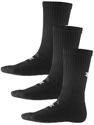 Under Armour CC 3-Pack Crew Sock Black LG