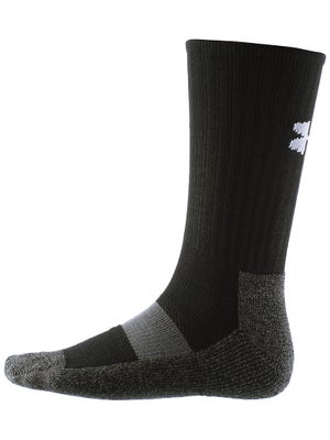 Under Armour Performance Crew Sock Bk/Wh LG