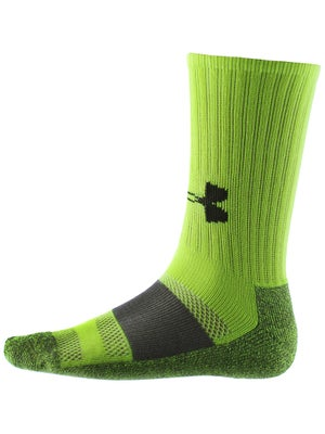 Under Armour Performance Crew Sock Yellow/Bk MD
