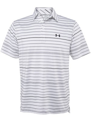 Under Armour Mens Winter Perf Stripe Polo